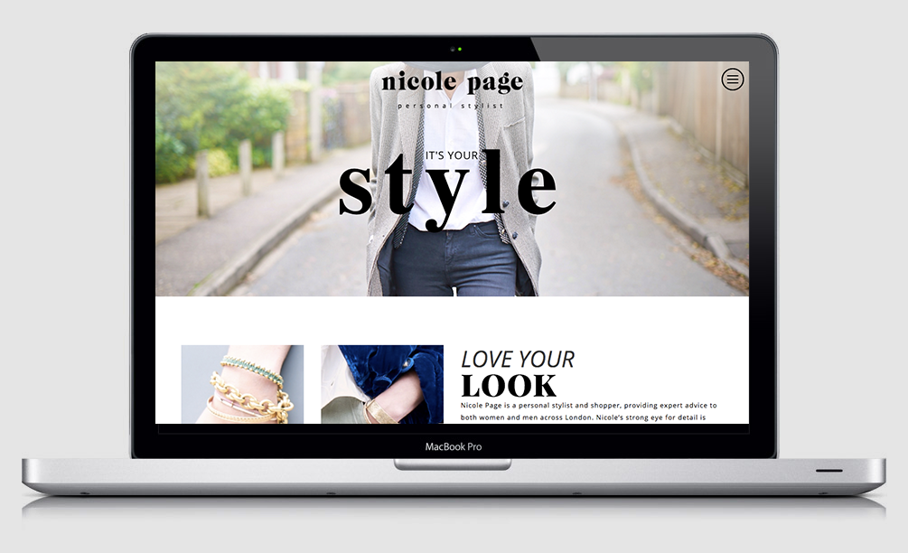 Nicole Page Stylist Website