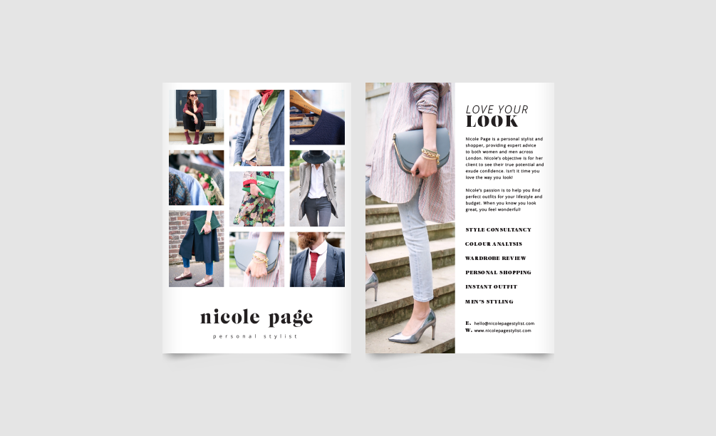 Nicole Page Stylist Flyer